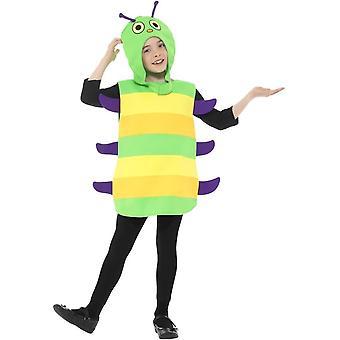 Caterpillar Costume, Multi-Coloured, with Tabard & Headpiece