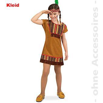 Indianerin Kostüm Kinder Squaw Indianer Mädchen Kinderkostüm