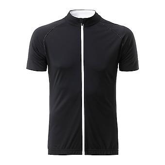 James and Nicholson Mens Bike Full Zip T-Shirt