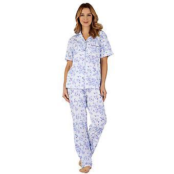 Slenderella PJ3104 Women's Cotton Jersey Pajama Pyjama Set