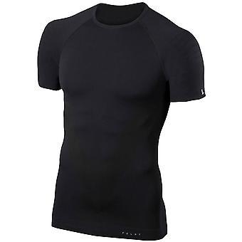 Falke enge Passform Kurzarm-Shirt - schwarz