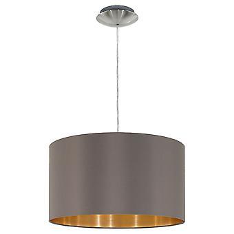 Eglo - Maserlo 1 luz pingente níquel acetinado luz Cappuccino EG31603 de teto