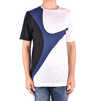 Neil Barrett Ezbc058054 Men's Multicolor Cotton T-shirt