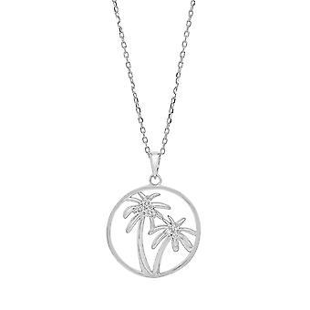 Ah! Prata esterlina joias obra aberta Palm Tree pingente de colar