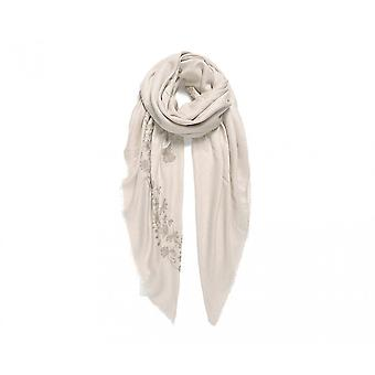 Fable Womens/Ladies Butterfly And Leaf Embroidered Square Scarf