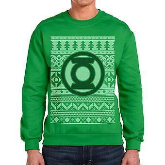 Unisex Green DC Comics Zielona Latarnia Christmas Jumper