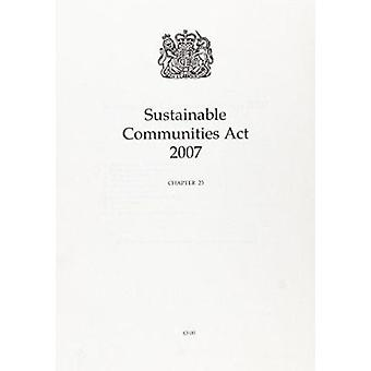 Sustainable Communities Act 2007 - 9780105423072 Book