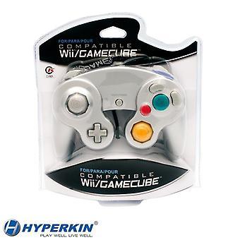 Nintendo Wii/GameCube CirKa controller zilver controller