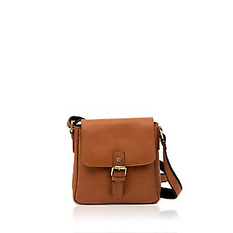 Rydal Small Leather Cross Body Bag à Cognac