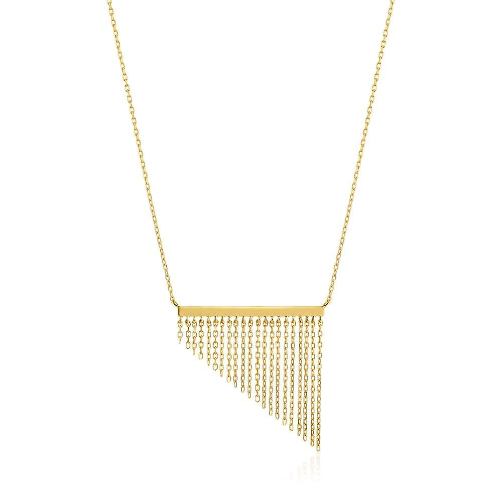 Ania Haie Gold Plated Sterling Silver 'Fringe Fall' Necklace