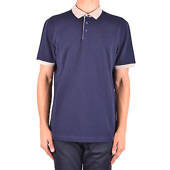 Brunello Cucinelli Ezbc002026 Hombres's camiseta polo de algodón azul