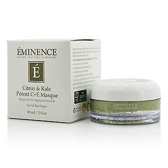 Eminentie Citrus & Kale Potent C+e Masque - Voor alle huidtypes - 60ml/2oz