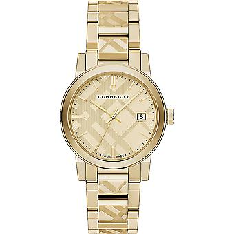 Burberry Bu9038 Unisex Swiss Gold Ion-plated Stainless Steel Watch