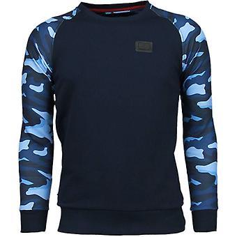 Army ARM motiv-Sweatshirt-Marinblå