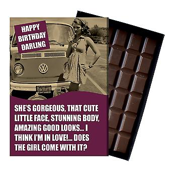 Birthday Gift Volkeswagon VW Camper Van Owner T1 T2 T3 boxed Chocolate Greeting Card CDL223