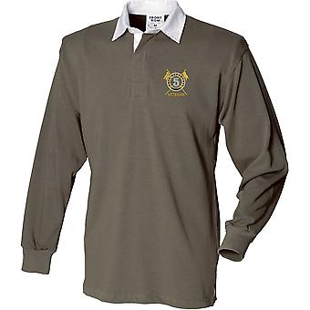 5th Royal Irish Lancers Veteran - Licensed British Army Embroidered Long Sleeve Rugby Shirt