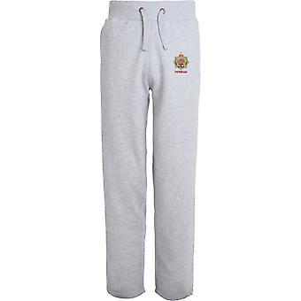 Royal Army Service Corps Veteran - lizenzierte britische Armee bestickt offenen Hem Sweatpants / Jogging Bottoms