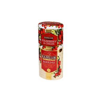 Strawberry & Cream/ruhuna Region Tea-dual Layer Tea Caddy