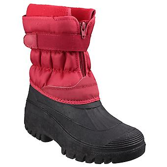 Cotswold Unisex Chase Touch Fastening and Zip up Winter Boot Red
