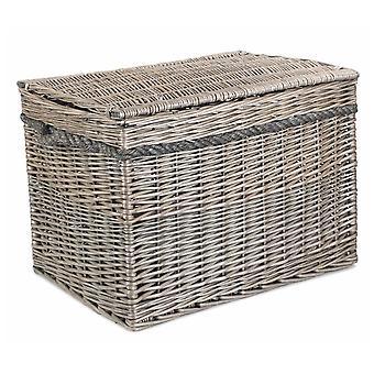 58cm Unlined Antique Wash Wicker Storage Basket
