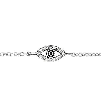 Evil Eye - 925 Sterling Silver Chain Bracelets - W31529x