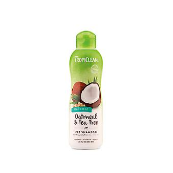 Tropiclean Oatmeal & Tea Tree Natural Pet Shampoo - Soothes Dry Itchy Skin