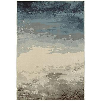 Linden 7803a blue/ beige indoor area rug rectangle 5'3