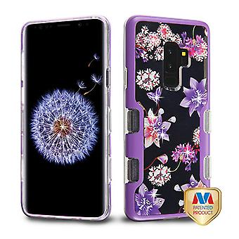 MYBAT Metallic Purple/Purple Stargazers Diamante TUFF Panoview Hybrid Case for Galaxy S9 Plus