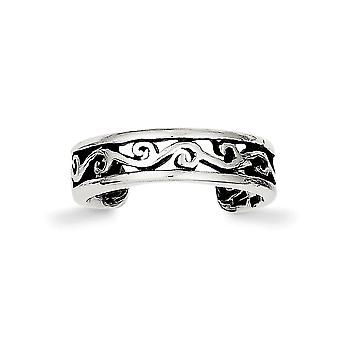 925 Sterling Silver Solid finish Toe Ring Jewelry Gifts for Women - 1.3 Grams