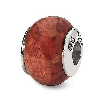 925 Sterling Silver Polerade reflektioner Bambu Simulerad Korall Pärla Charm Hänge Halsband Smycken Gåvor för kvinnor