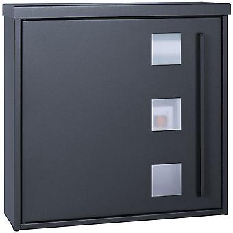 MOCAVI Box 103W Design letterbox anthracite-grey (RAL 7016) with viewing window