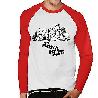 Krazy Kat Group Picture Men's Baseball Long Sleeved T-Shirt