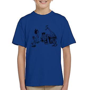 Krazy Kat Huddle Plain Kid's T-Shirt