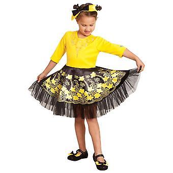 Emma Deluxe ballerina mekko Wiggles keltainen kirja viikko taapero tyttöjen puku