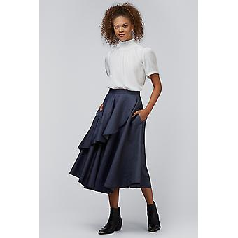 Louche Stavely Chambray Skirt Blue