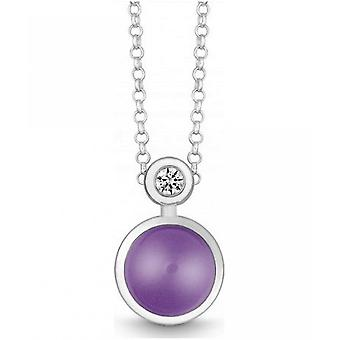 QUINN - Necklace - Silver - Diamond - Amethyst - Wess. (H) - 27191933