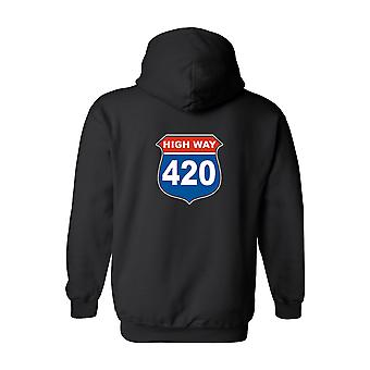 Men's Zip-Up Hoodie Highway 420