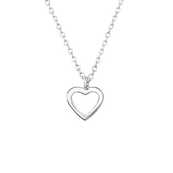 Heart - 925 Sterling Silver Plain Necklaces - W36354x
