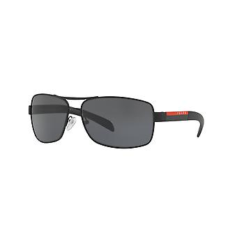 Prada Sport Linea Rossa SPS54I DG0/5Z1 Black Rubber/Polarised Grey Sunglasses