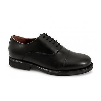 Scimitar Stuart Unisex 5 Eyelet piele Oxford Uniform Shoes Negru