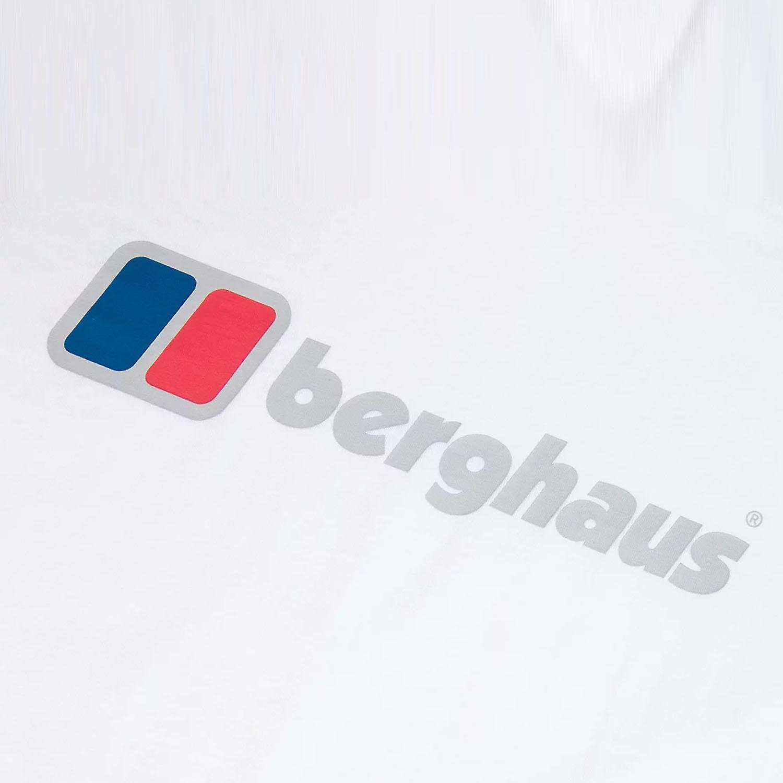 Berghaus Big Corporate Logo Mens Short Sleeve Outdoor T-Shirt Tee White