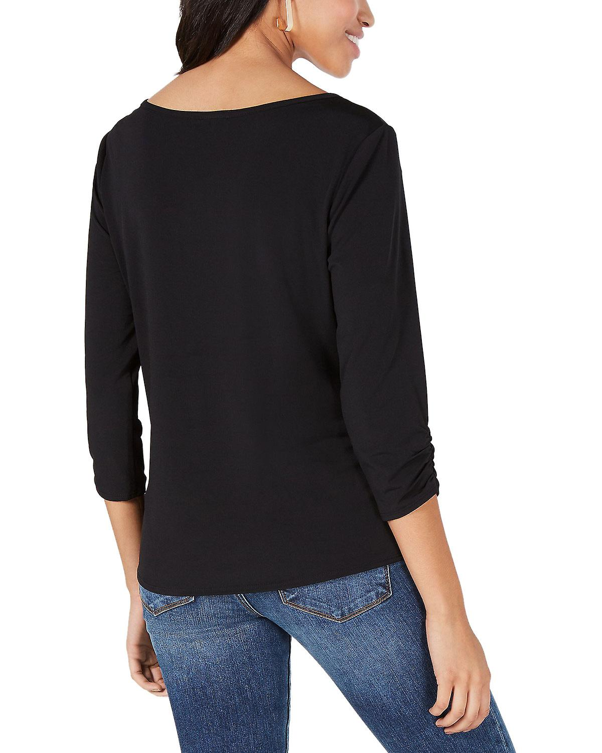 BCX Juniors' Embellished Knot Front Top