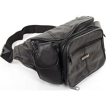 Duży Unisex Nappa miękkie zadek torba / worek talii z wieloma kieszeniami