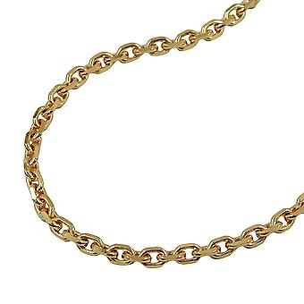 gold plated necklace gold plated chain, anchor chain, 55 cm