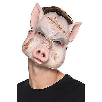 Ďábelský zabijácký maska růžový, Halloweenský ozdobný doplňky, jedna velikost