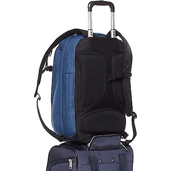 AmazonBasics Slim Carry On Laptop Travel Overnight, Blue, Size Overnight