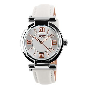 Skmei Women's Ladies Girls Watch Clear Dial Roman Numerals Genuine Leather Strap REGNo Unito