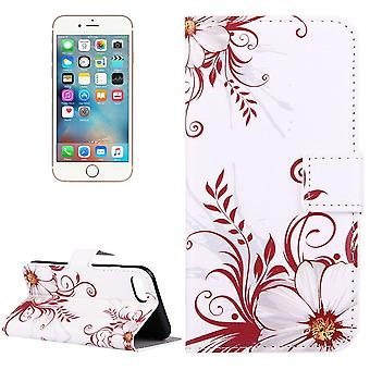 Para iPhone SE(2020), 8 & 7 Wallet Case, Elegante Flower Buds Durable Protective Leather Cover