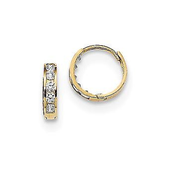 14k Madi K 2mm CZ Cubic Zirconia Simulated Diamond Hoop Earringss Jewelry Gifts for Women