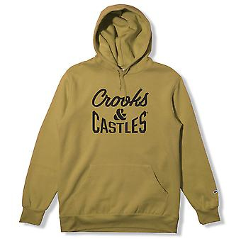 Crooks et châteaux Fleece Pull Hoodie Timber